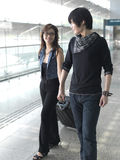 Asian Chinese couple traveling Stock Photography