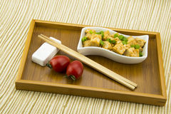 Asian Chinese delicious Home Dishes, fried tofu Stock Images
