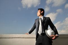 Asian Chinese Engineer Looking ahead Royalty Free Stock Images