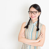 Asian Chinese female smiling Royalty Free Stock Photography