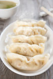Asian Chinese food fresh dumplings Royalty Free Stock Images