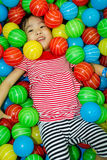 Asian Chinese Girl In Ball Pool Stock Photos
