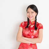Asian chinese girl cheongsam Royalty Free Stock Photography