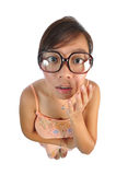 Asian chinese girl looking shocked Royalty Free Stock Image