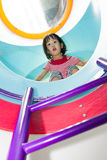 Asian Chinese Girl In Playground Stock Image