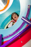 Asian Chinese Girl At Playground Stock Photography