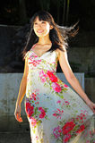 Asian Chinese Girl smiling and Looking Angelic Royalty Free Stock Photo