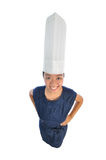 Asian chinese girl wearing chef's hat royalty free stock image