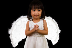 Asian Chinese Little Angel Stock Photo