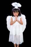 Asian Chinese Little Angel Praying Royalty Free Stock Photography