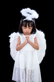 Asian Chinese Little Angel Praying Stock Photography