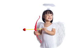 Asian Chinese little cupid with bow and arrow Stock Photo