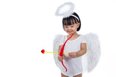 Asian Chinese little cupid with bow and arrow Stock Images