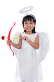 Asian Chinese little cupid with bow and arrow Stock Photos
