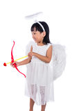 Asian Chinese little cupid with bow and arrow Royalty Free Stock Photography