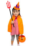 Asian Chinese Little girl celebrate Halloween. Stock Image