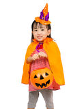 Asian Chinese Little girl celebrate Halloween. Royalty Free Stock Photo