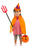 Asian Chinese Little girl celebrate Halloween. Royalty Free Stock Images