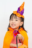 Asian Chinese Little girl celebrate Halloween. Royalty Free Stock Photography