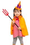 Asian Chinese Little girl celebrate Halloween. Stock Photography