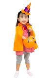 Asian Chinese Little girl celebrate Halloween. Royalty Free Stock Image