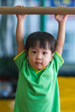 Asian Chinese Little Girl Gymnastic Royalty Free Stock Photography