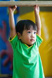 Asian Chinese Little Girl Gymnastic Royalty Free Stock Photos