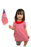 Asian Chinese Little girl with Malaysia Flag Stock Photos