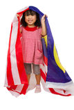 Asian Chinese Little girl with Malaysia Flag Stock Image