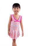 Asian Chinese little girl portrait in swimsuit Stock Photo