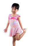Asian Chinese little girl portrait in swimsuit Stock Image
