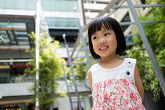 Asian Chinese little girl smiling Royalty Free Stock Image