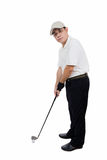 Asian Chinese Male Golfer posing with Golf Club Stock Images