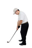 Asian Chinese Male Golfer posing with Golf Club Royalty Free Stock Photo