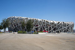 Asian Chinese, modern architecture, the National Stadium, the bird's nest Royalty Free Stock Images