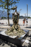Asian Chinese, Olympic Park, sculpture, the sea breeze Stock Image