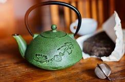 Asian Chinese pressed pu-erh tea Royalty Free Stock Image