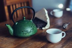 Asian Chinese pressed pu-erh tea Stock Images