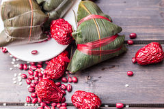 Asian Chinese rice dumplings or zongzi Royalty Free Stock Images