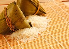 Asian Chinese rice dumplings or zongzi Royalty Free Stock Photography