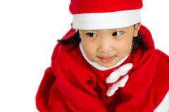 Asian Chinese Santa Girl Stock Photography