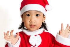 Asian Chinese Santa Girl Stock Images