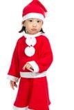 Asian Chinese Santa Girl Royalty Free Stock Image