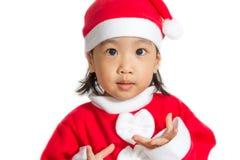 Asian Chinese Santa Girl Royalty Free Stock Photo