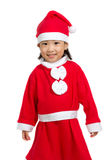 Asian Chinese Santa Girl Stock Photo