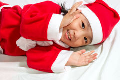 Asian Chinese Santa Girl Royalty Free Stock Photography