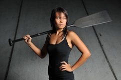 Asian Chinese sports woman  Stock Photos