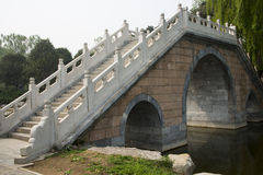Asian Chinese stone bridge Royalty Free Stock Photos