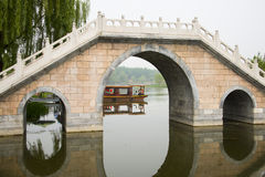 Asian Chinese stone bridge Royalty Free Stock Photography