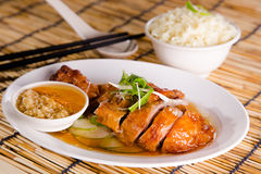 Asian chinese style chicken rice Royalty Free Stock Images